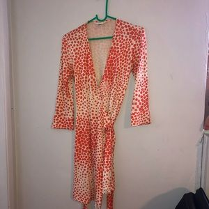 Diane Von Furstenberg Silk Wrap Dress 4